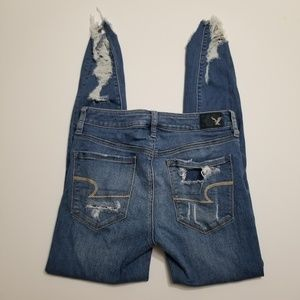 American Eagle Distressed High Rise Denim Jeans
